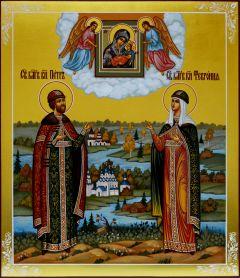 Рукописная икона Петр и Феврония 46