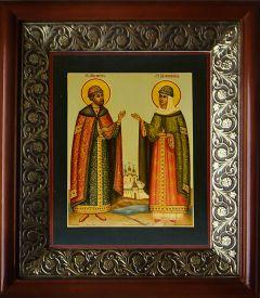 Рукописная икона Петра и Февронии 19 купить с доставкой