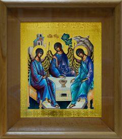 Рукописная икона Святая Троица 3 в киоте купить с доставкой