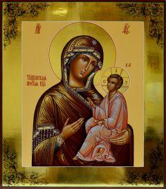 Рукописная икона Божией Матери Тихвинская 4 купить с доставкой