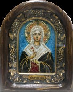 Икона бисером Ангелина  купить с доставкой