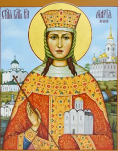 Рукописная икона Мария Ясыня