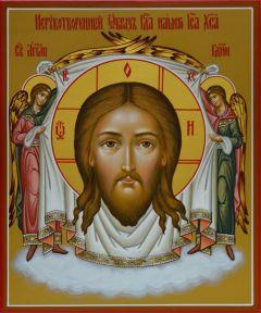Рукописная икона Спас Нерукотворный 5 купить с доставкой