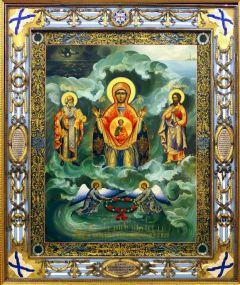 Рукописная икона Спасающая на море