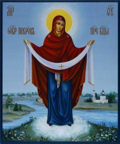 Рукописная икона Покров Богородицы 4 купить с доставкой