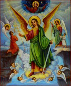 Рукописная икона Ангел Хранитель 10 купить с доставкой