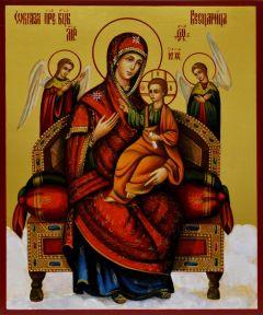 Рукописная икона Всецарица 4