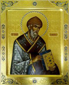 Рукописная икона Спиридон Тримифунтский 5