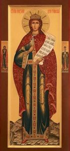 Рукописная икона Святая Александра Римская купить с доставкой