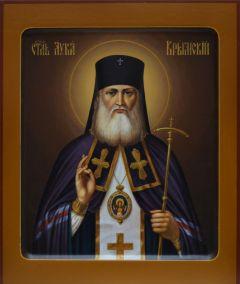 Рукописная икона Лука Крымский (Войно-Ясенецкий) 3 купить с доставкой