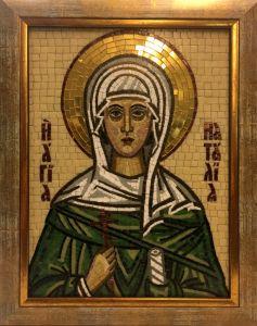 Икона из мозаики Наталия Никомидийская 2