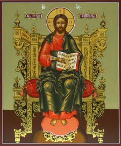 Рукописная икона Господь Вседержитель на престоле 8
