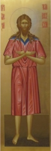 Рукописная икона Святой Алексий Человек Божий купить с доставкой