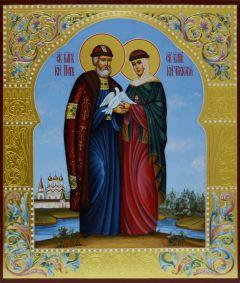 Рукописная икона Петр и Феврония 50 купить с доставкой