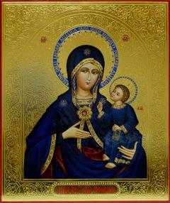 Рукописная икона Армянская 3 резьба