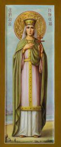 Рукописная икона Святая Алла Готфская купить с доставкой
