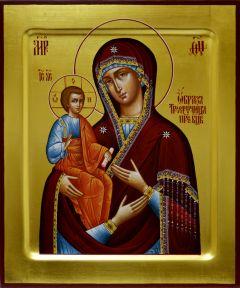 Рукописная икона Троеручица 4