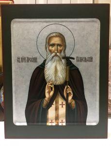 Рукописная икона Арсений Комельский 2