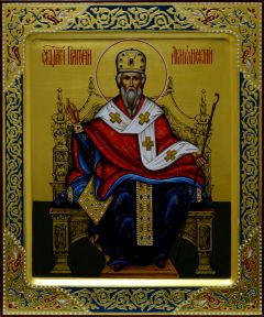 Рукописная икона Григорий Просветитель Армении 2