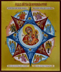 Рукописная икона Неопалимая Купина 5
