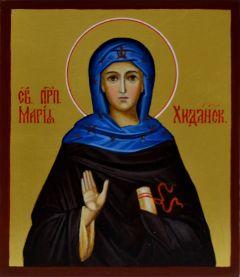 Рукописная икона Мария Хиданская