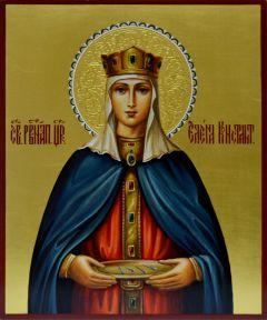 Рукописная икона царица Елена 4