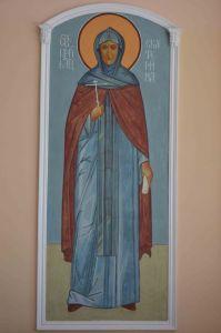 Рукописная икона прпмц. Екатерина Черкасова