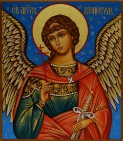 Рукописная икона Ангел Хранитель для ребенка 18