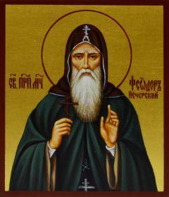 Рукописная икона Феодор Печерский в Ближних пещерах