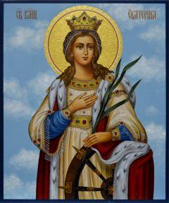 Рукописная икона Екатерина великомученица 3