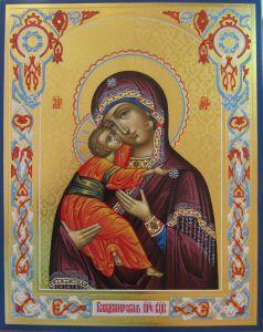 Рукописная Владимирская икона 7
