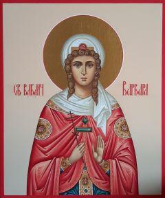 Рукописная икона Варвара великомученица 5
