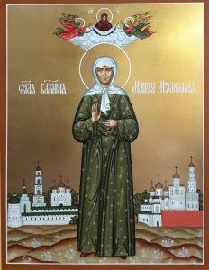 Рукописная икона Матрона Московская 11