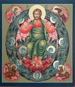 Рукописная икона Спас в Силах 3