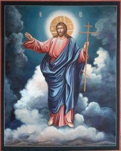 Рукописная икона Спаситель 8
