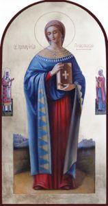 Рукописная икона Святая Анастасия Римляныня купить с доставкой