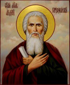 Рукописная икона Андрей Первозванный масло