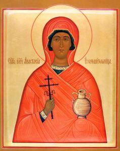 Рукописная икона Святая Анастасия Узорешительница