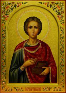 Рукописная икона Пантелеймон Целитель 5