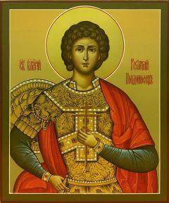 Рукописная икона Георгий Победоносец 4