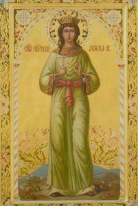 Рукописная икона Святая Анастасия Царевна купить с доставкой