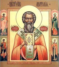 Рукописная икона Анатолий Константинопольский