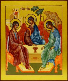 Рукописная икона Святая Троица (Рублев) 8