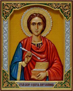 Резная икона Пантелеймон Целитель 4