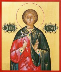 Рукописная икона Святой Анатолий Никомидийский купить с доставкой