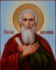 Рукописная икона Андрей Первозванный масло 6