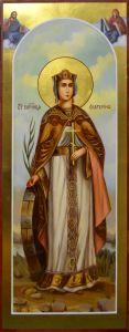 Мерная икона Екатерина масло