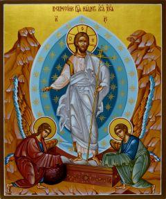 Рукописная икона Воскресение Христово 5