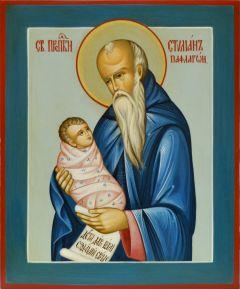 Рукописная икона Стилиан под старину