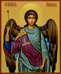 Рукописная икона Архангел Михаил 10